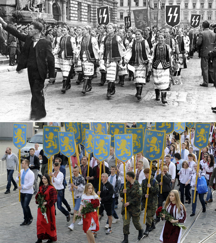 Lavov 1943 Nazi SS and 2014