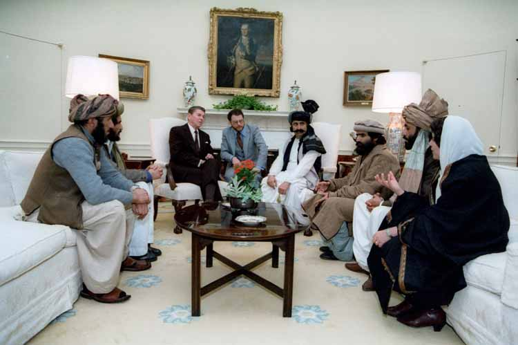 Reagan with Talibans