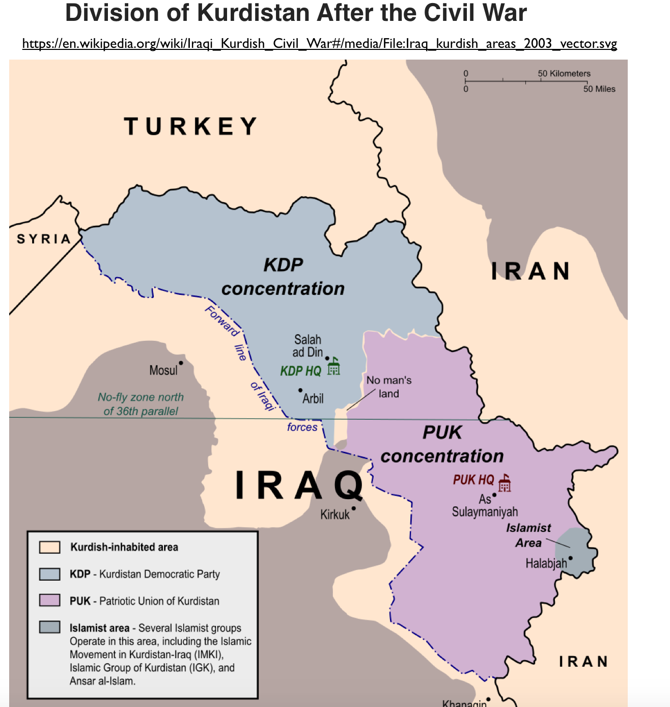 1995-Divided-Iraqi-Kurdistan-Map