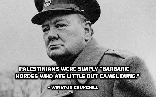 Churchill on Palestinians