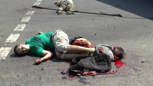 Luhansk 13 08 2014 kids killed by Ukrainian army