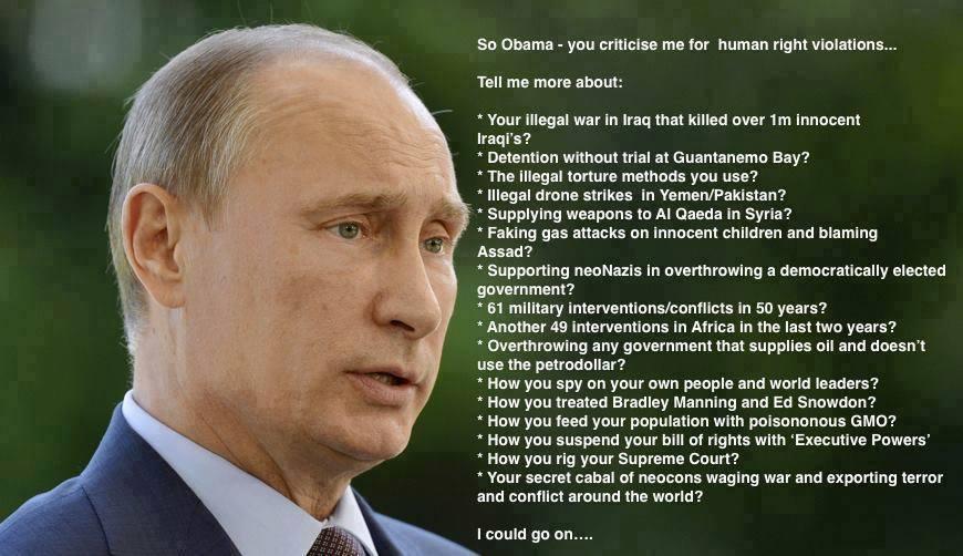Putin to Obama