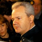 President Slobodan Milosevictalking to reporters at the Sava centre, Belgrade, Serbia, in the run-up to elections, Dec 1993., Image: 6033063, License: Rights-managed, Restrictions: , Model Release: no, Credit line: Profimedia, Alamy