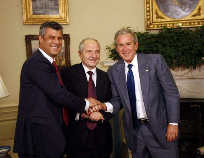 Democratic Shaking Hands with Kosovostan's War Criminal