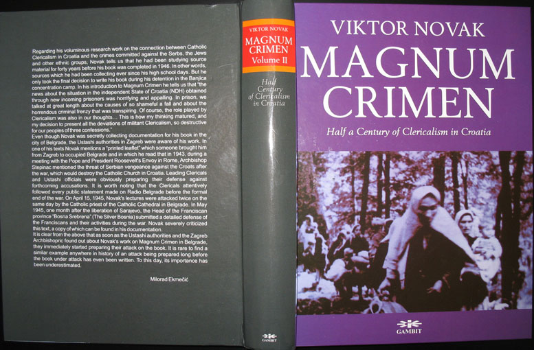 """The Vatican Role in the Ustasha Genocide in the """"Independent State of Croatia"""" (1941-1945)"""