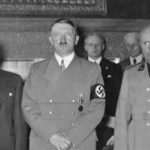 The participants of Munich Conference, 1938. From left to right: Neville Chamberlain, Eduard Daladier, Adolf Hitler, Benito Mussolini