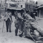 Palestinians leaving Haifa in 1948 when Jews entered the city
